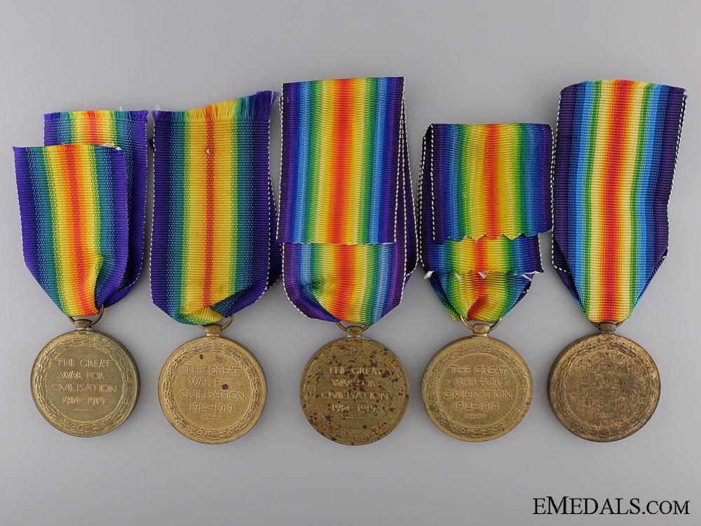 Five First War British Victory Medals