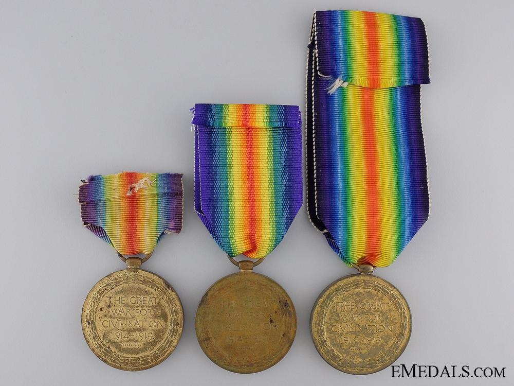 Three First War British Regimental Victory Medals