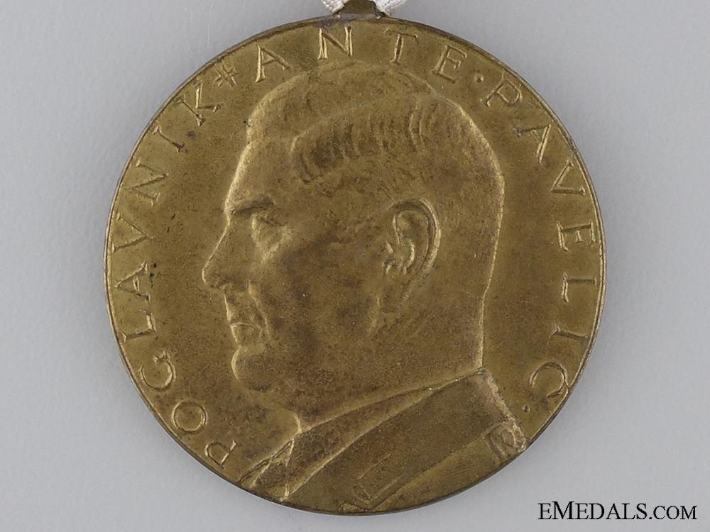 A Croatian Second War A.Pavelic Bronze Bravery Medal