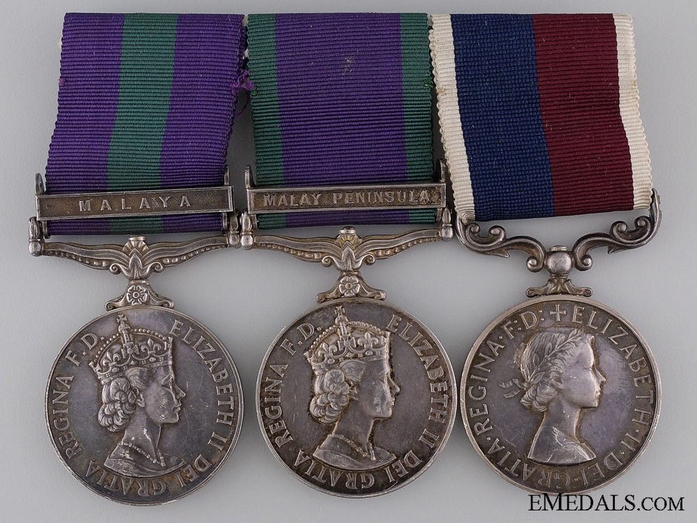A Royal Air Force & Long Service Medal Group for Malaya