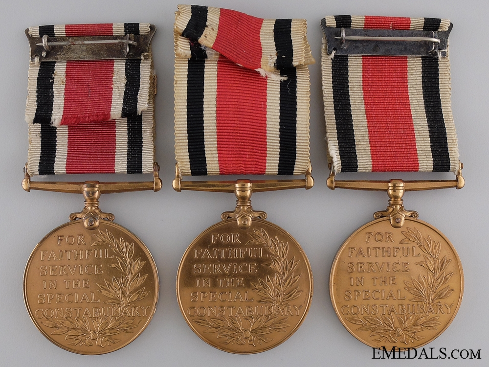 Three British Special Constabulary Long Service Medals