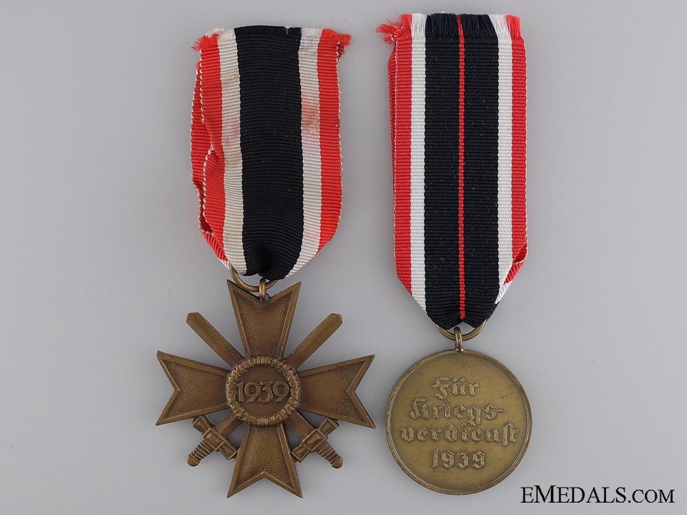 Two German War Merit Awards