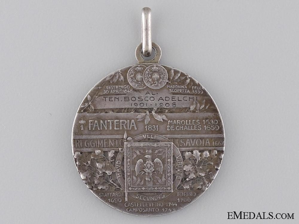 A 1906 Italian Regimental Medal Named to Bosco Adelchi