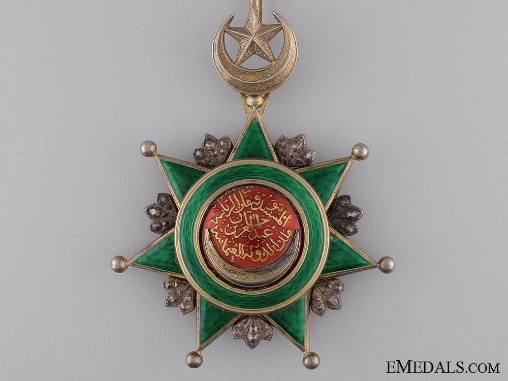 A Turkish Order of Osmania (Osmanli); Commander's Neck Badge