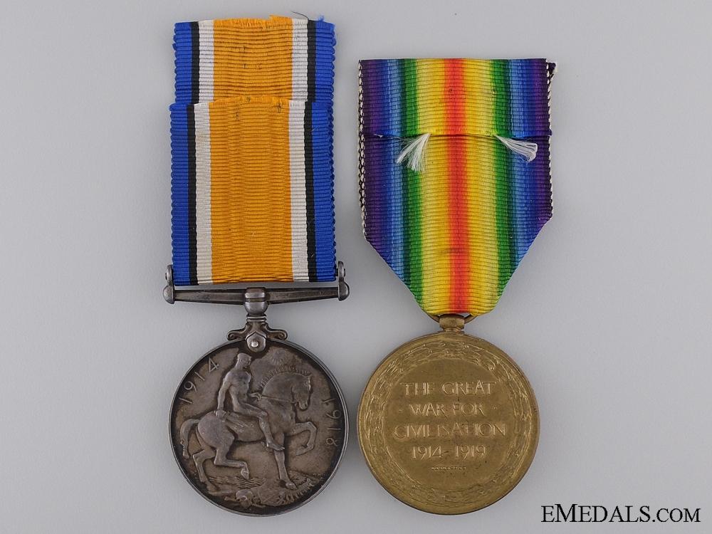 A First War Canadian Pair to Captain Mac Lennan C.A.M.C.  Consign: 17