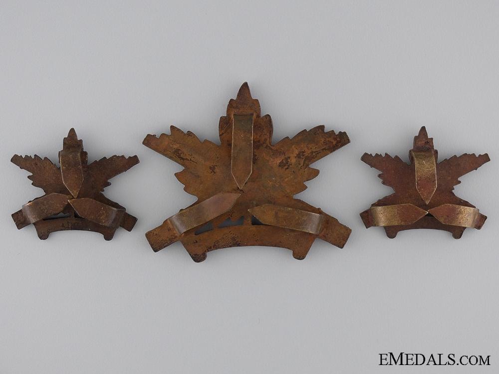WWI Machine Gun Corps Insignia Set; Canadian Issue; 4th Version