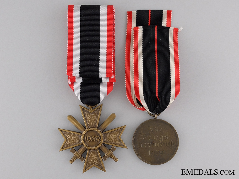 Two Second War German Merit Awards