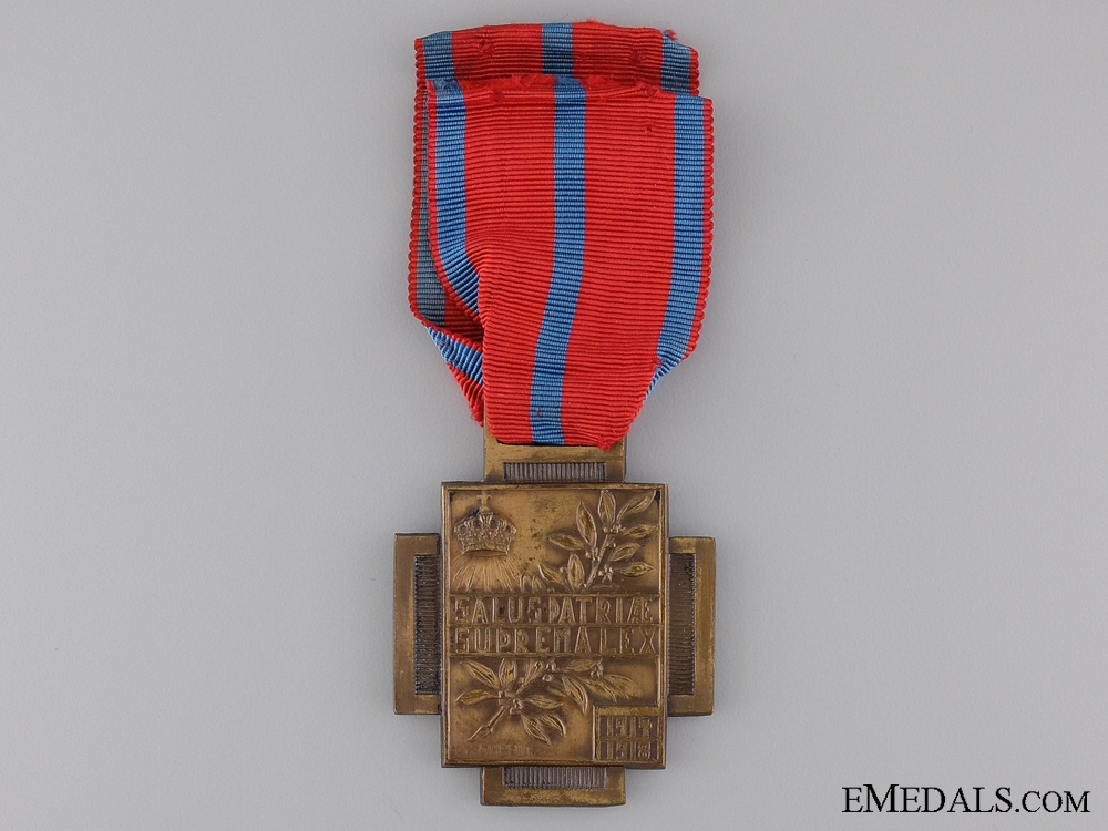 Belgian Frontline Fire Service Cross 1914-1918; Type II