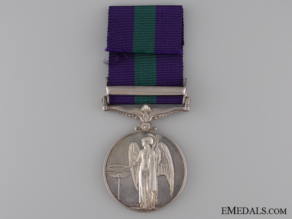 General Service Medal - Devon Regiment