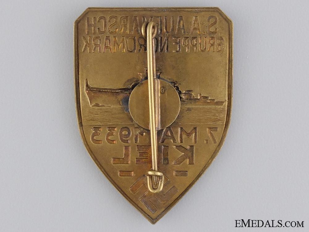 A 1933 S.A. Aufmarsch Gruppe Nordmark Badge
