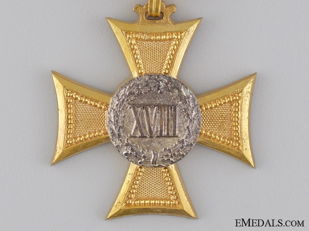 An Austrian Long Service Cross for 18 Years; Type II