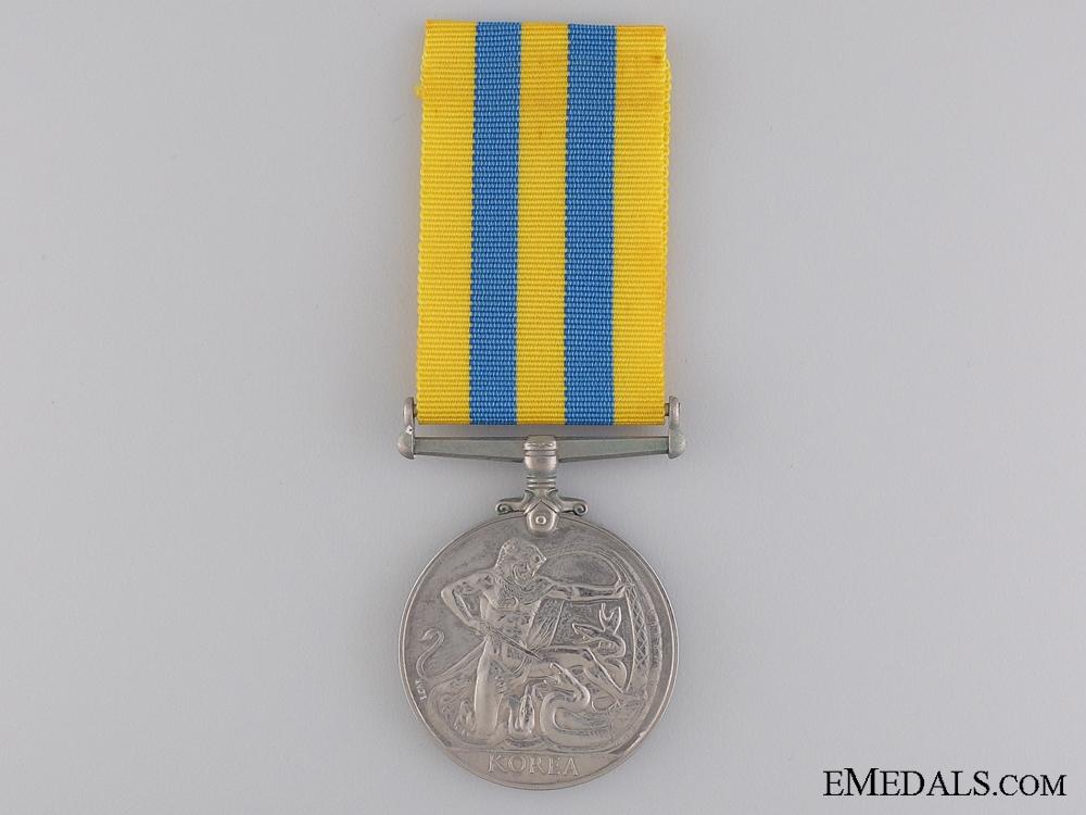 A British Korea Medal to the Royal Marines
