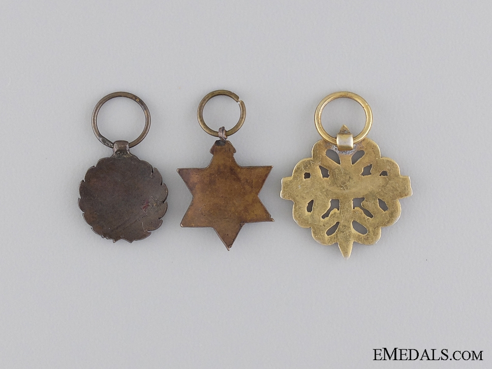 Three Miniature Spanish Medals
