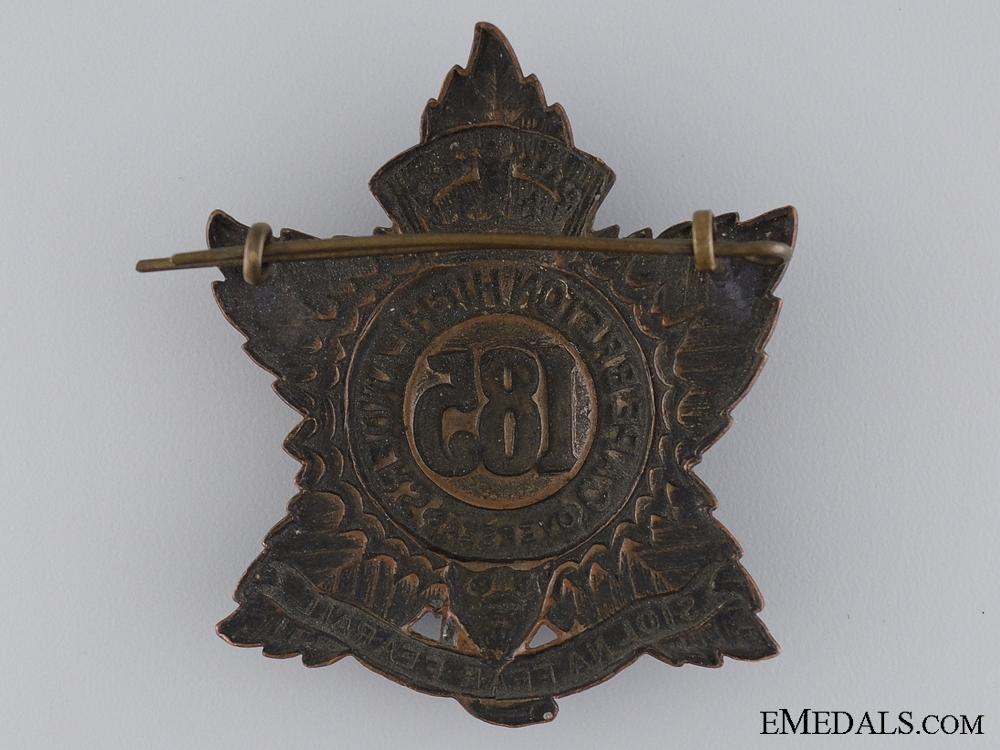"WWI 185th Infantry Battalion ""Cape Breton Highlanders"" Cap Badge"