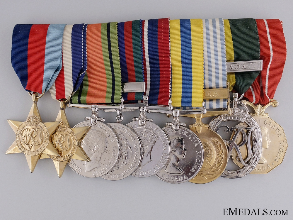 A Second & Korean War Efficiency Medal Bar to Lt. Burnside