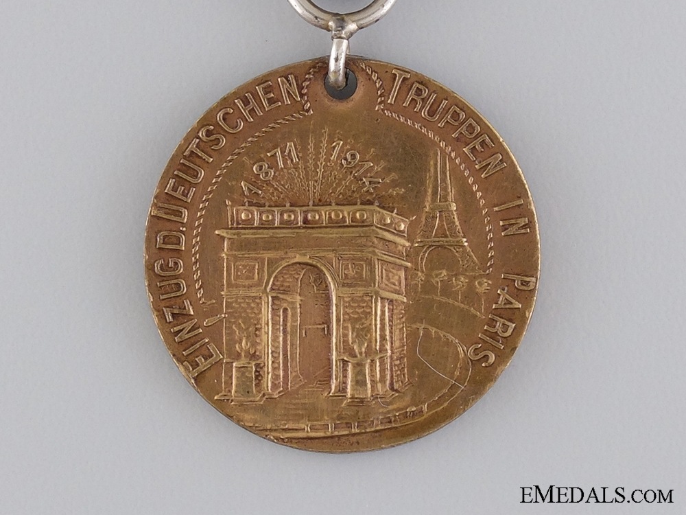 A 1914 German Empire Entry into Paris Commemorative Medal