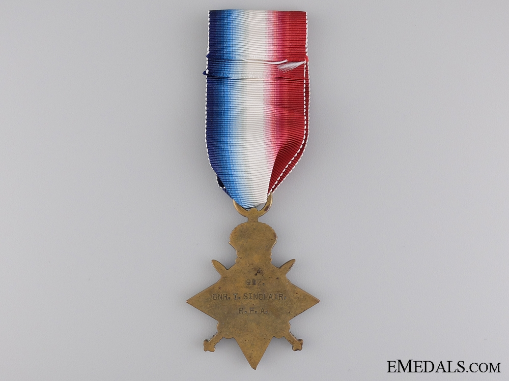 WWI 1914-15 Star to the Royal Field Artillery