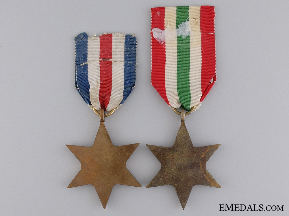Two British Second War Campaign Stars