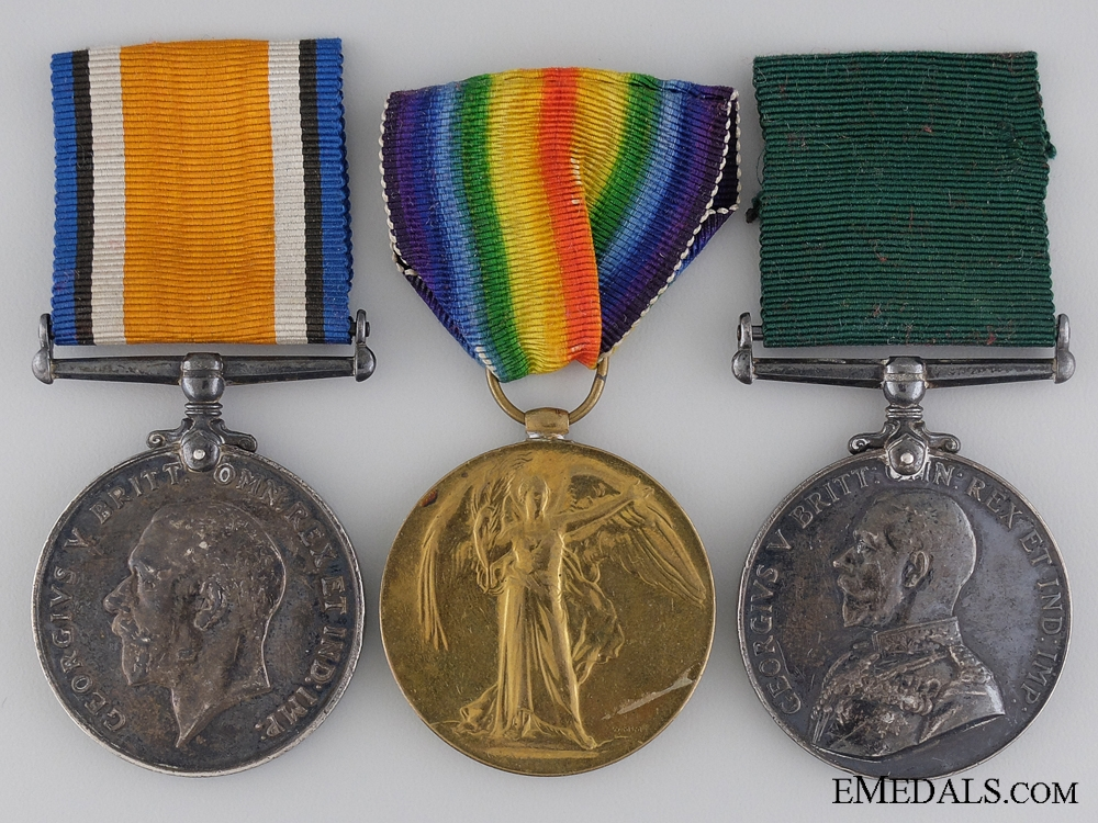 A First War Medal Group to the 4th Canadian Mounted Rifles