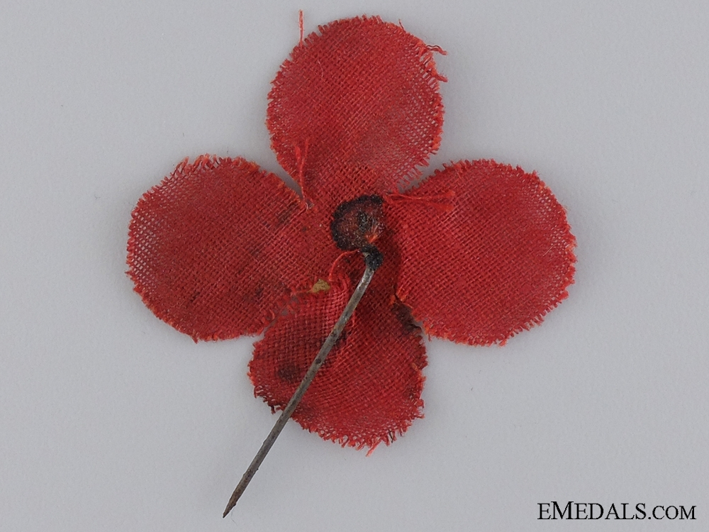 An Early Canadian Cloth Poppy