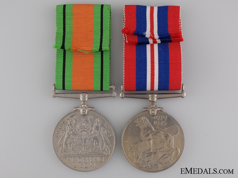 A Pair of Second War British War Medal
