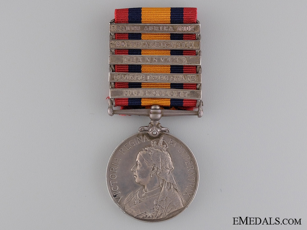 A Queen South Africa Medal to Canadian Trooper Upton