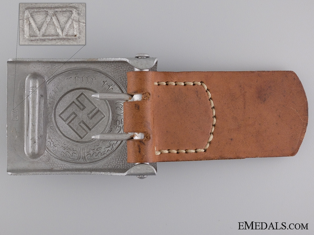 An Enlisted Police Belt Buckle; Marked