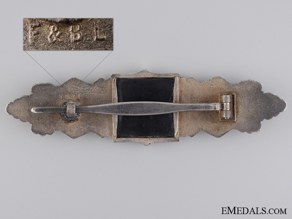 A Silver Grade Close Combat Clasp by F & B L