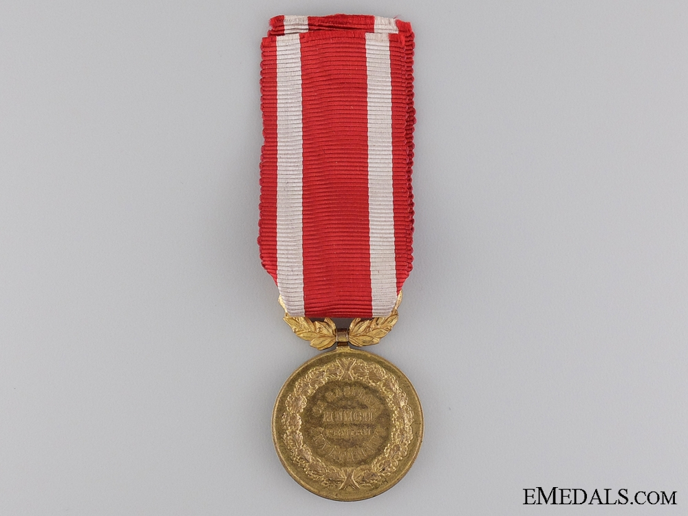 A Romanian Medal for Merit in Education; Gold Grade