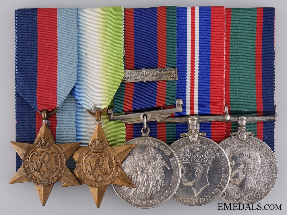 A Rare Canadian Naval Volunteer Reserve Medal Group to Stoker Forbes