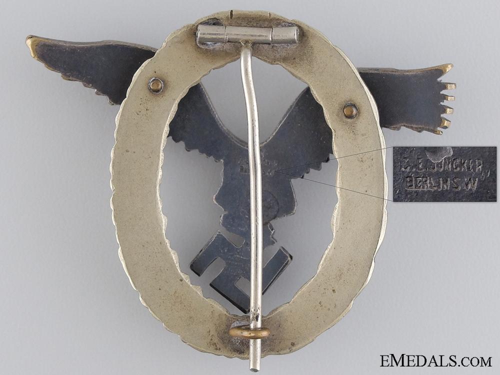 An Early Luftwaffe Pilots Badge by Juncker