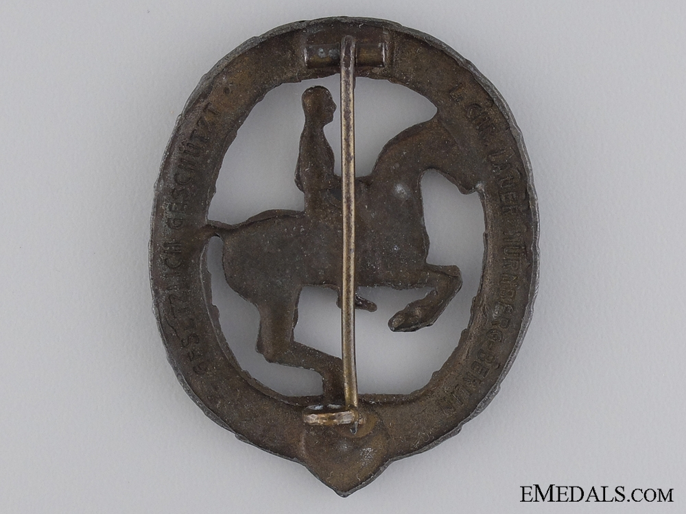 A German Horseman Award; Bronze Grade