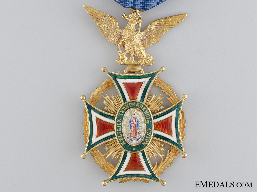 "A Mexican Order of Our Lady of Guadaloupe; Officer""¢¯s Badge in Gold"