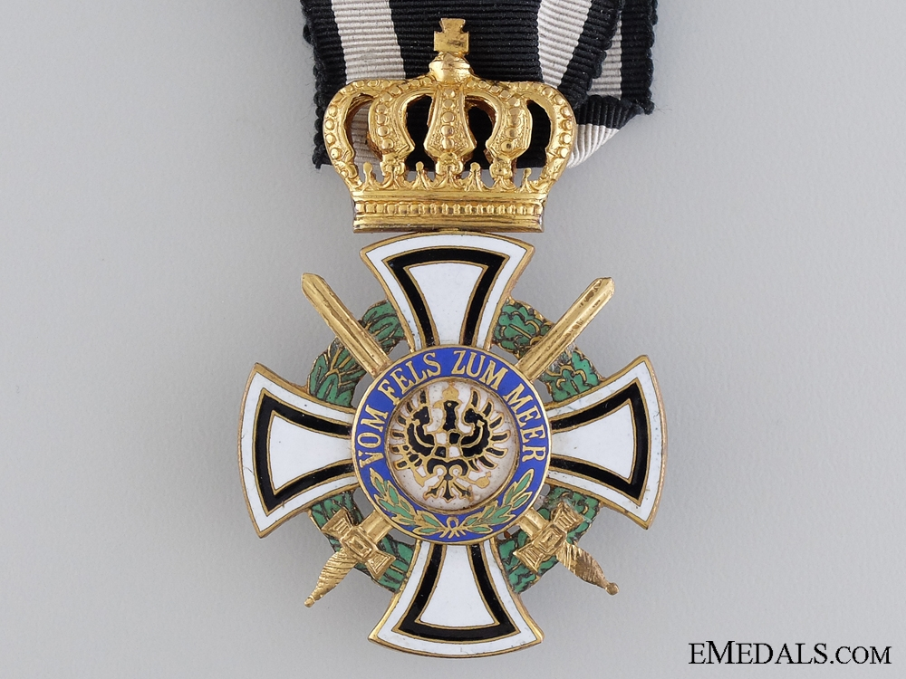 A Prussian House Order of Hohenzollern; Knight's Cross