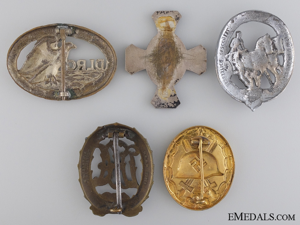Five German Badges & Awards