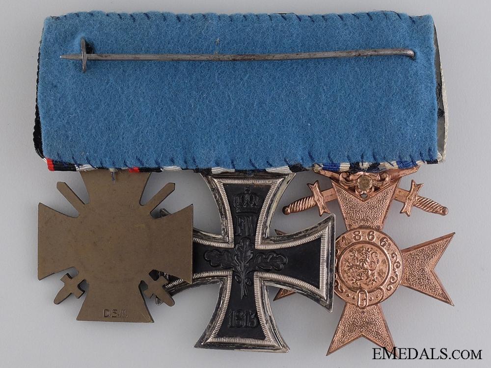 A First War German Medal Bar; Deschler & Sohn, München