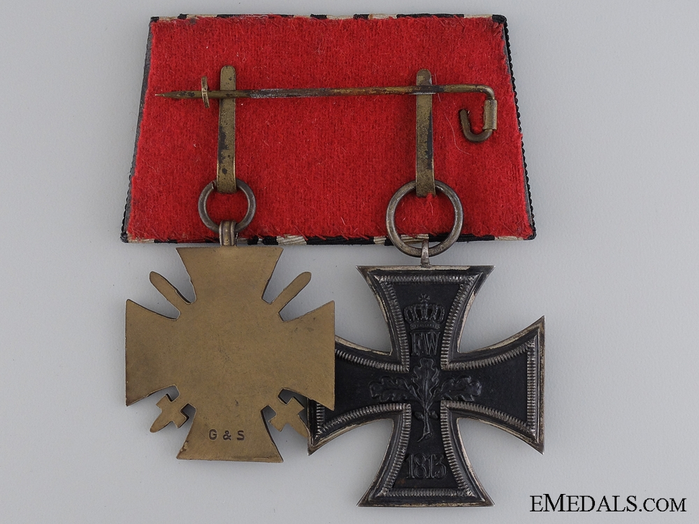 A First War German Medal Pair; Glaser & Söhne, Dresden
