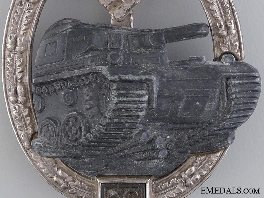 A Tank Badge Grade III (50); Silver Grade by Josef Feix & Sohn