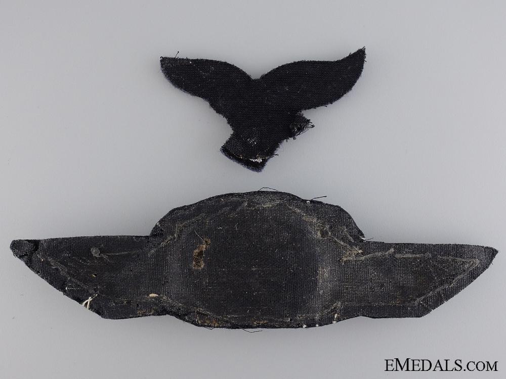 A Luftwaffe Officer Visor Wreath and Eagle