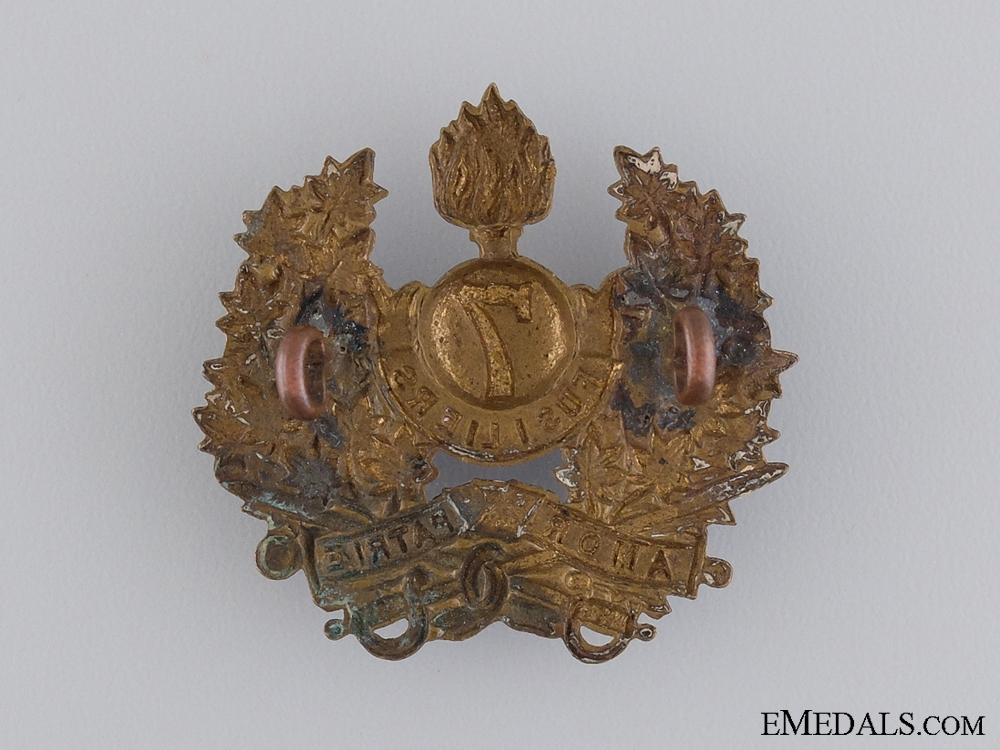 A 7th Canadian Regiment (Fusiliers) Cap Badge