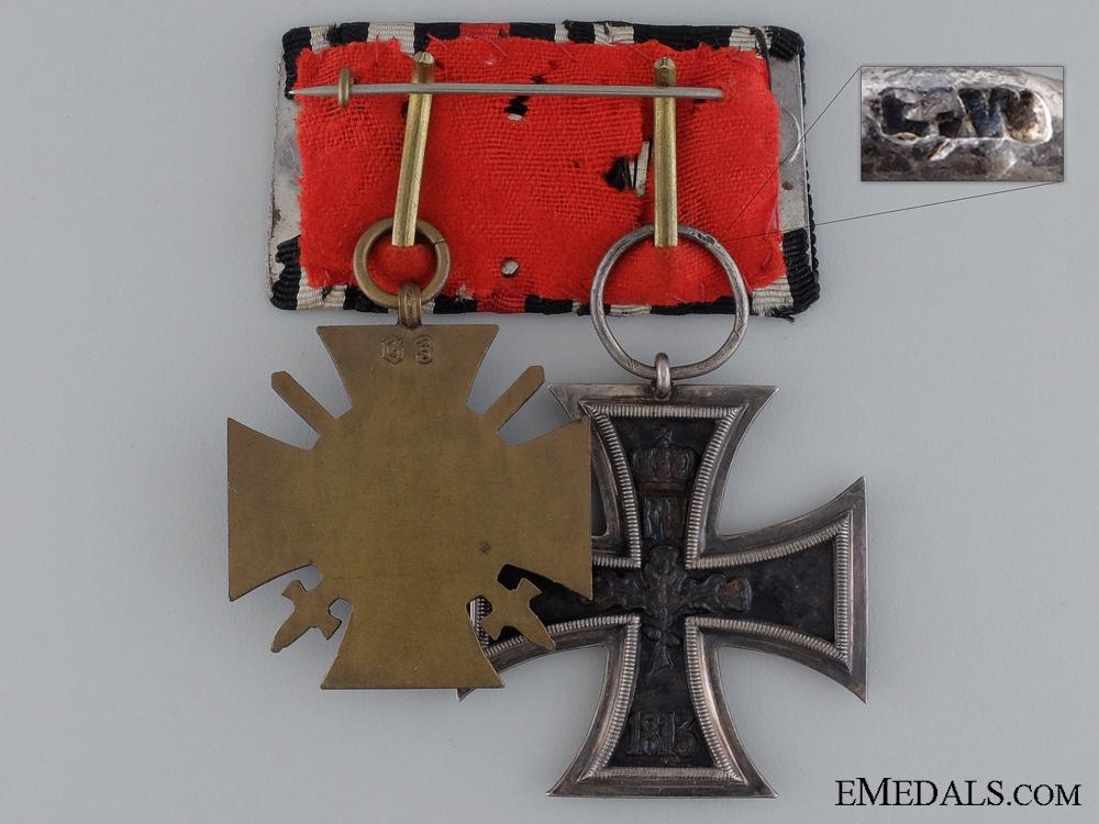 A First War German Medal Bar; Marked G3