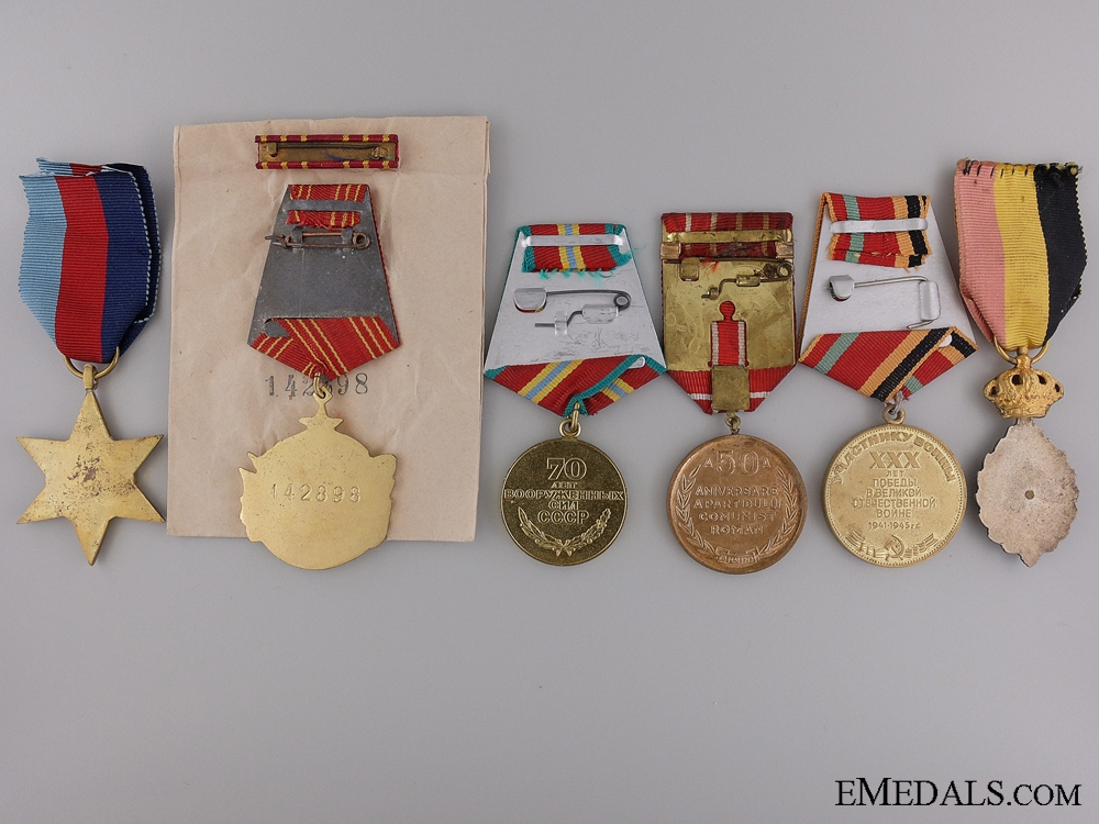 Six European Medals