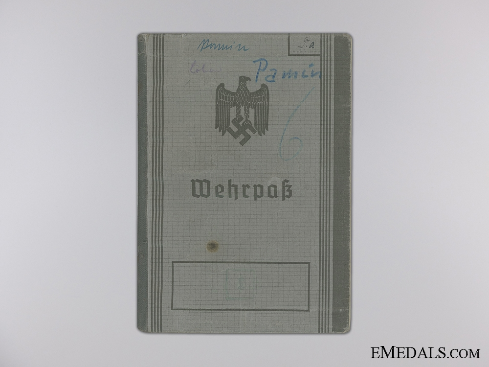 A Luftwaffe  Wehrpas & Doucments to 52nd Fighter Squadron Staff