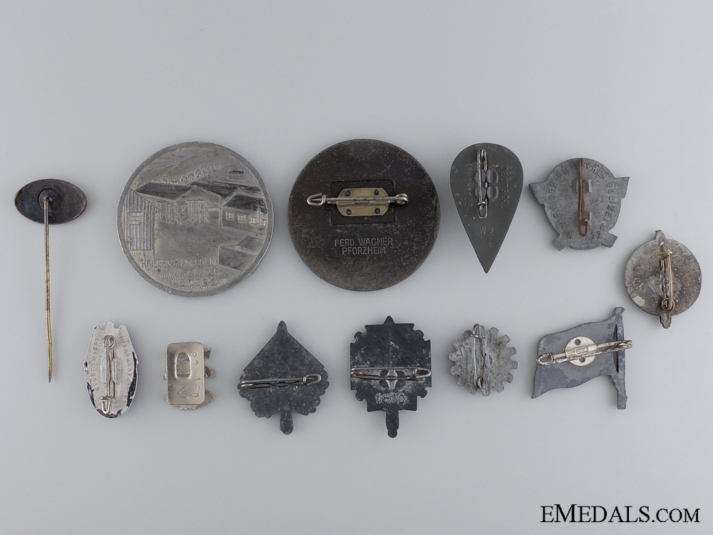 Twelve German Assorted Badges