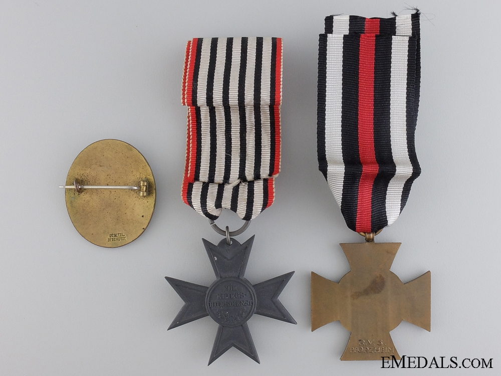 Three German Imperial Awards & Badges