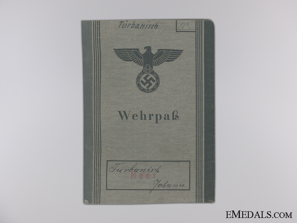 A Wehrpass & Records to the 13th Reserve Territorial Infantry Battalion