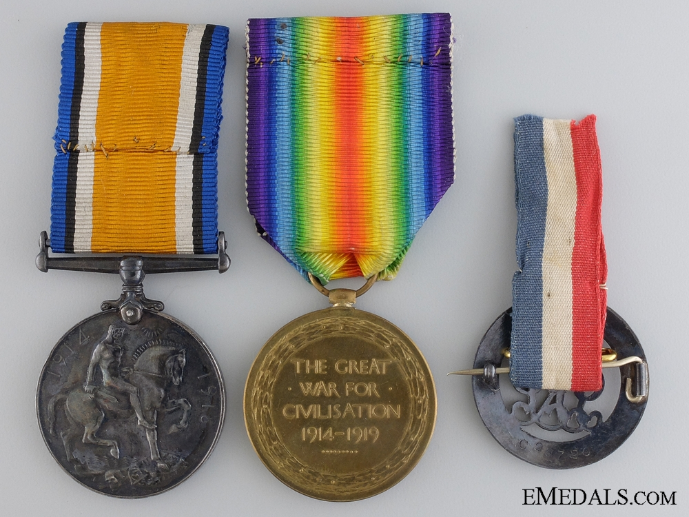 A First War Medal Pair to the 75th Canadian Infantry CEF