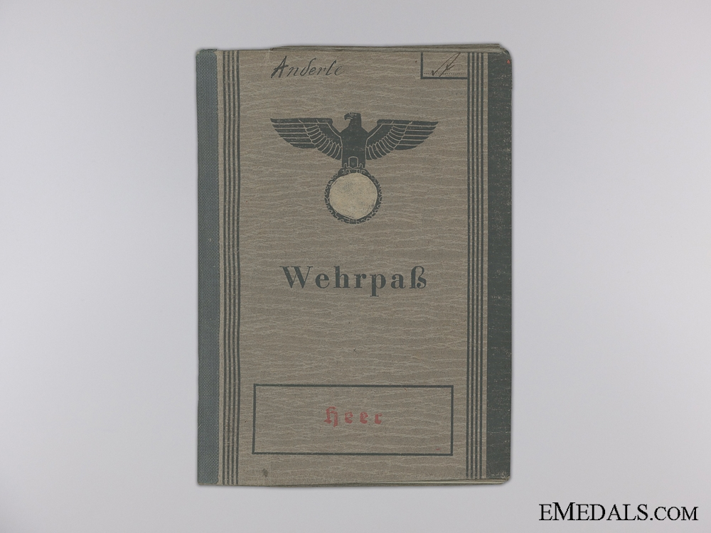 A Wehrpass to the 14th Battalion Special Trained Territorial Infantry
