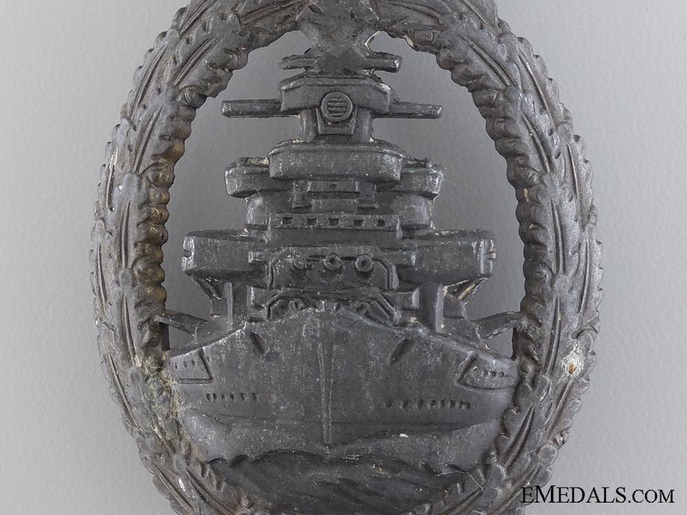 A Kriegsmarine High Seas Fleet Badge by Friedrich Orth