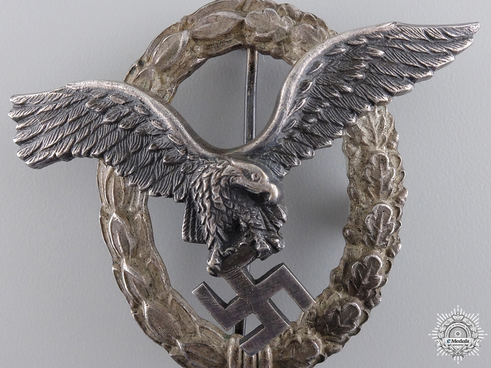 A Austrian Made Pilot's Badge by Brüder Schneider